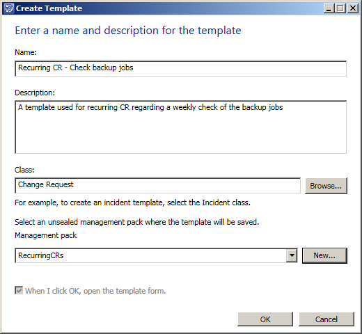 SCSMSE Blog Archive Creating recurring Change Requests – Change Request Template