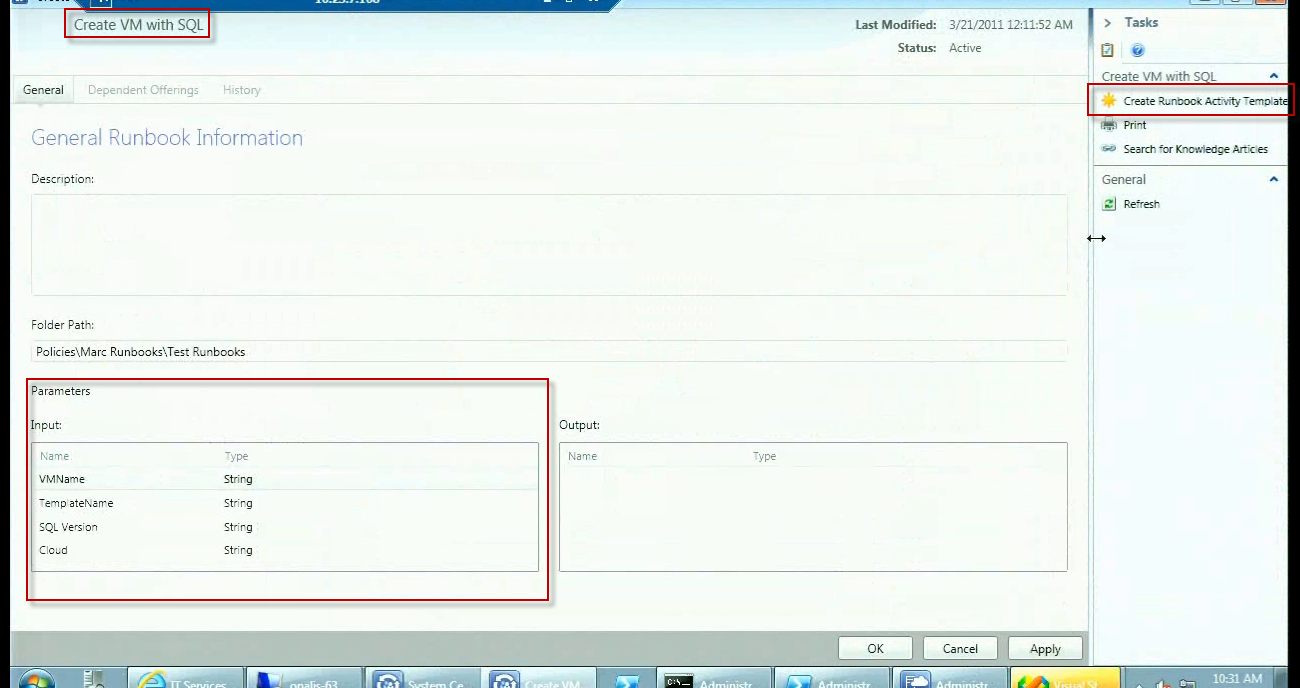 Scsm se blog archive what s new in service manager for Server runbook template