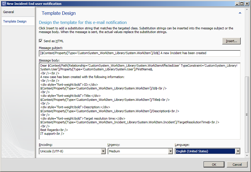 Scsm se 2011 august for It notification email template